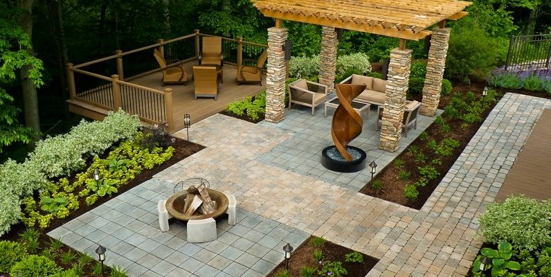 backyard landscape ideas wheelchair accessible backyard backyard landscaping the cornerstone  landscape group fort wayne, WUBCTTH