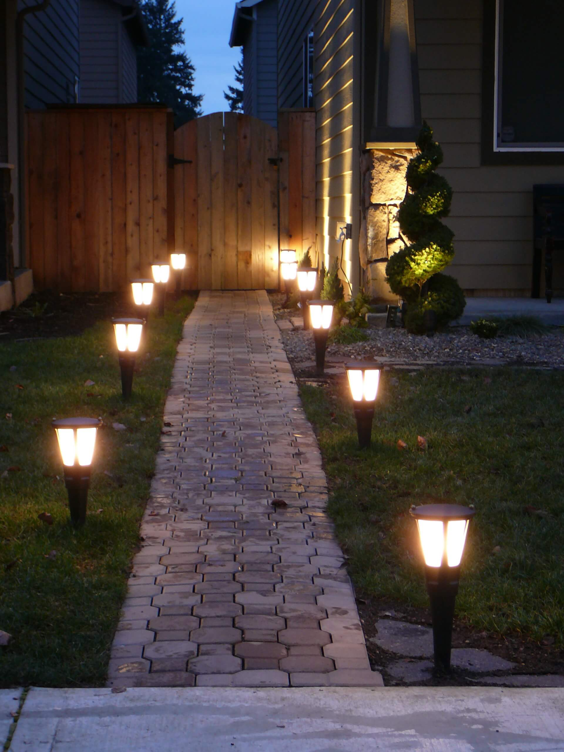 backyard lights simple solar brick pathway lights WTPGNMG