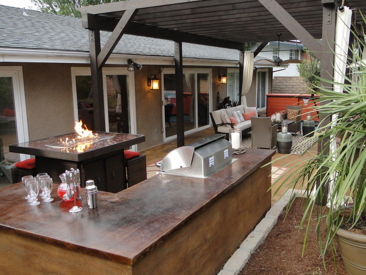 backyard patio ideas patio bar ideas and options QPVJAOD