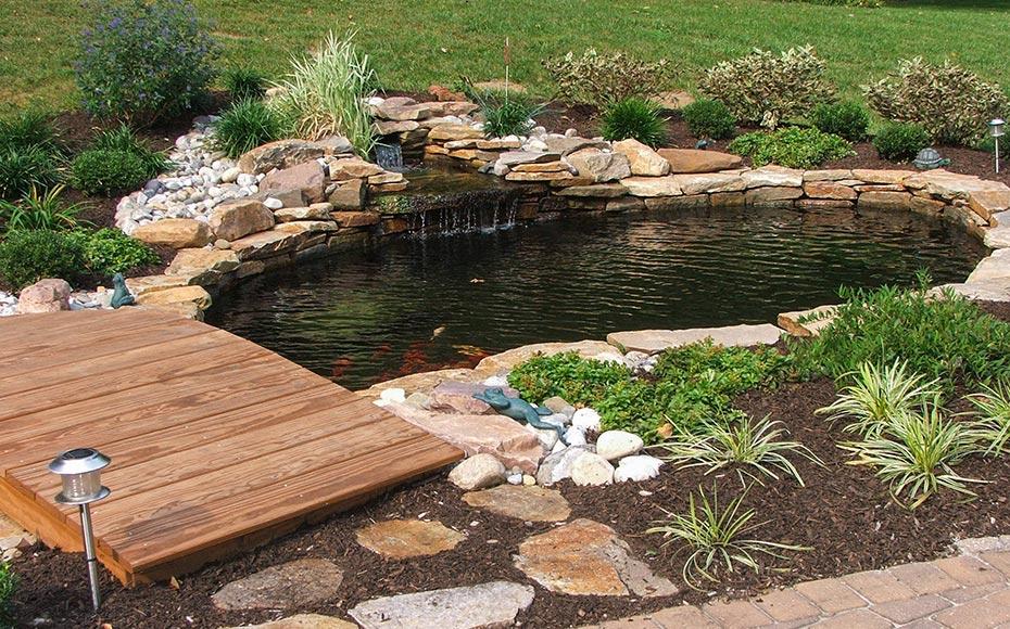 backyard ponds u0026 water features| garden pond design u0026 installation delaware MHXMQUA
