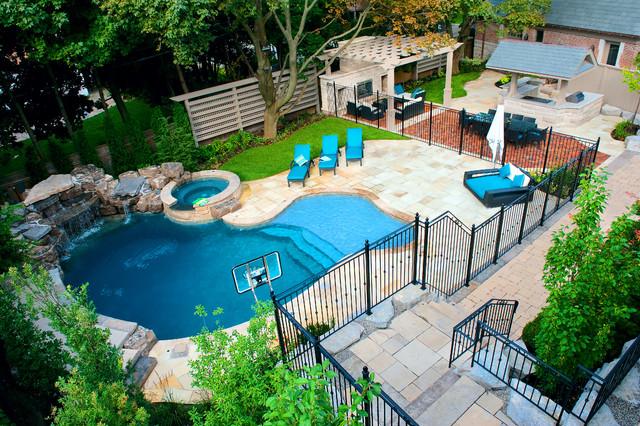 backyard pools a backyard pool oasis traditional-pool EJJJCKV