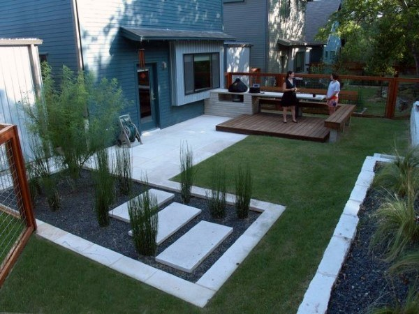 backyard simple modern landscape design QDWVHZR