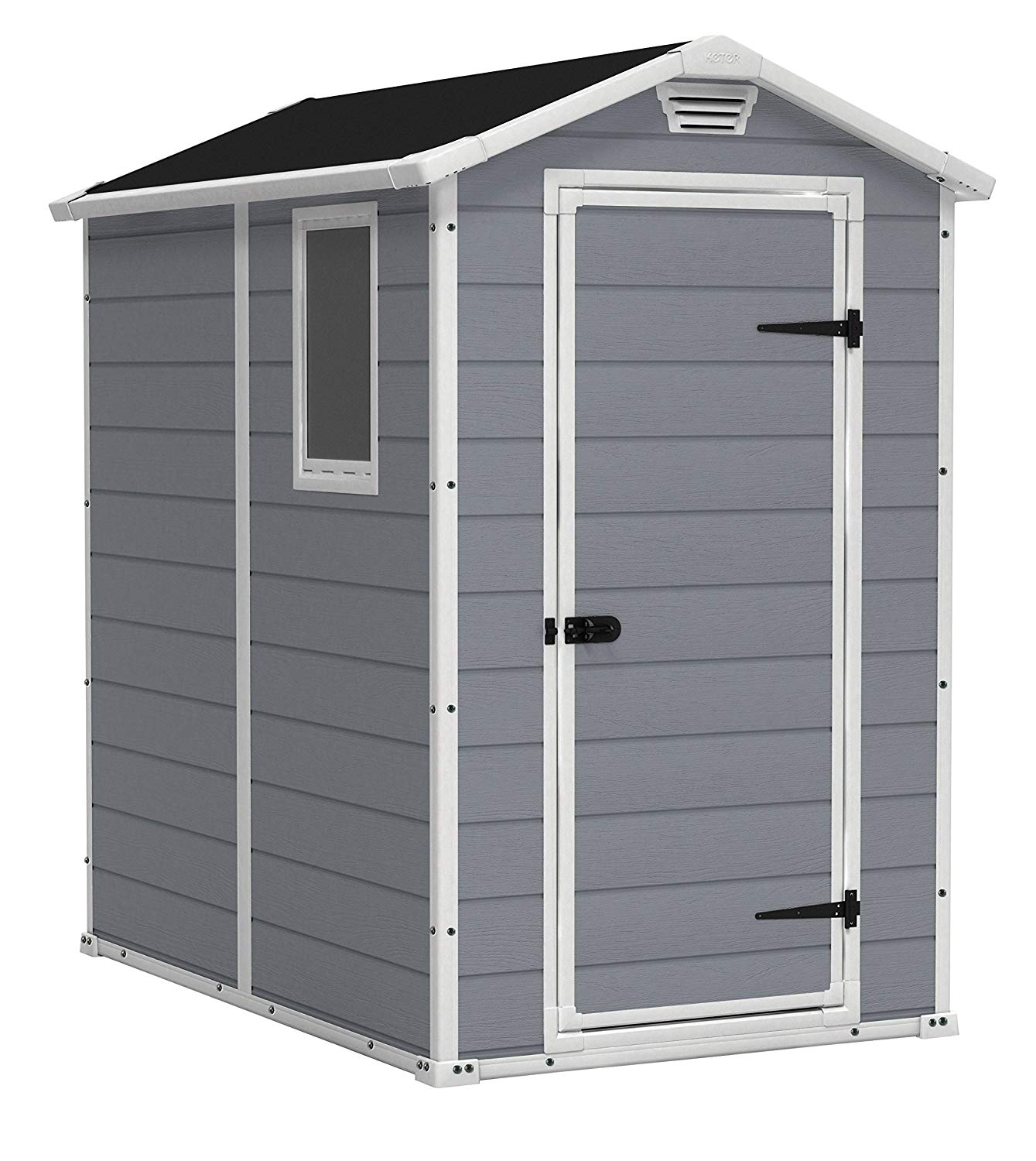 backyard storage sheds amazon.com : keter manor large 4 x 6 ft. resin outdoor backyard RRMPHKY