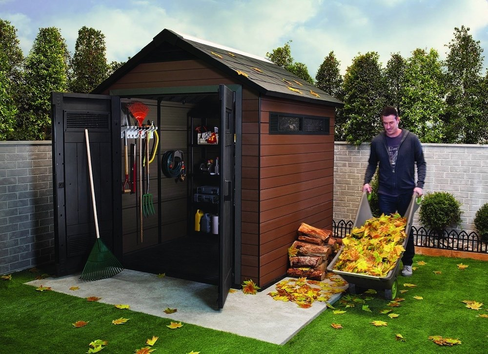 backyard storage sheds keter plastic composite outdoor storage shed VACSOHX