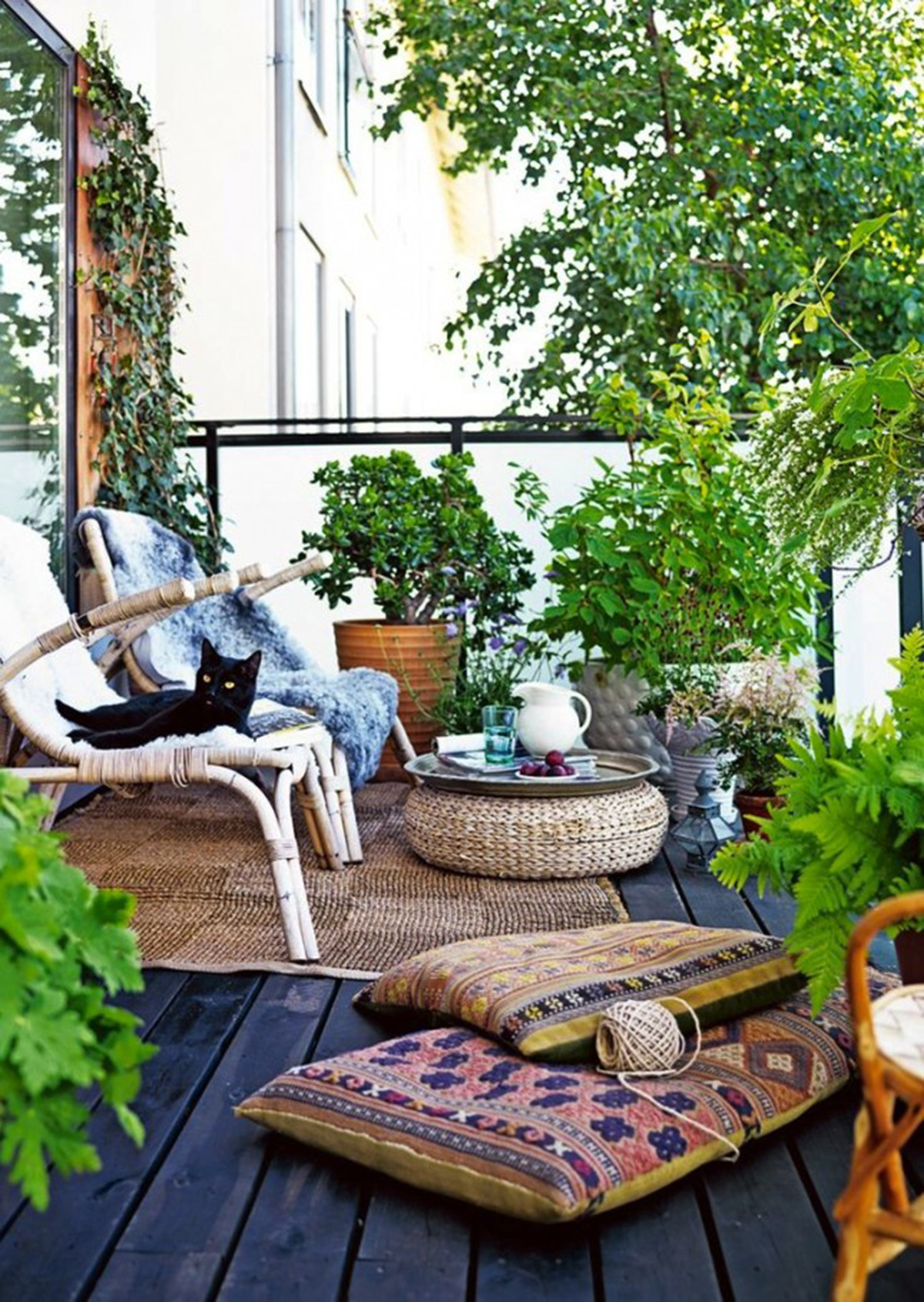 balcony garden ideas 8. private oasis PATNDJH