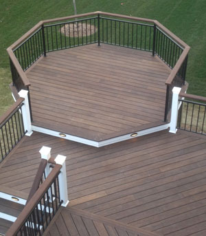 bamboo decking a multi level deck with exterior grade bamboo looks great. VBZFTEP