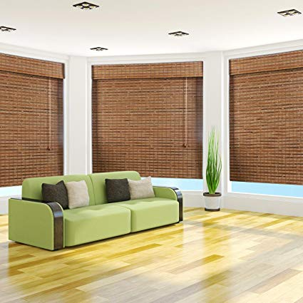 bamboo roman shades arlo blinds, dali native light filtering bamboo roman shade with valance - XLCEVIK