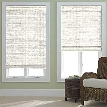 bamboo roman shades bamboo roman shade whitewash 35x64 UECHUEQ