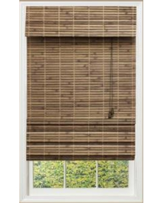 bamboo roman shades blinds - shades driftwood (brown) flatweave bamboo roman shade - 36 in. RHNWDRI