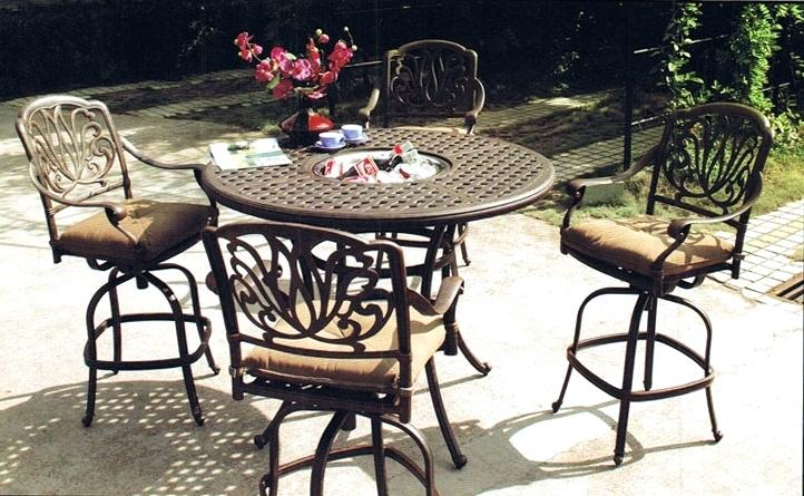 bar height patio set outdoor bar height table