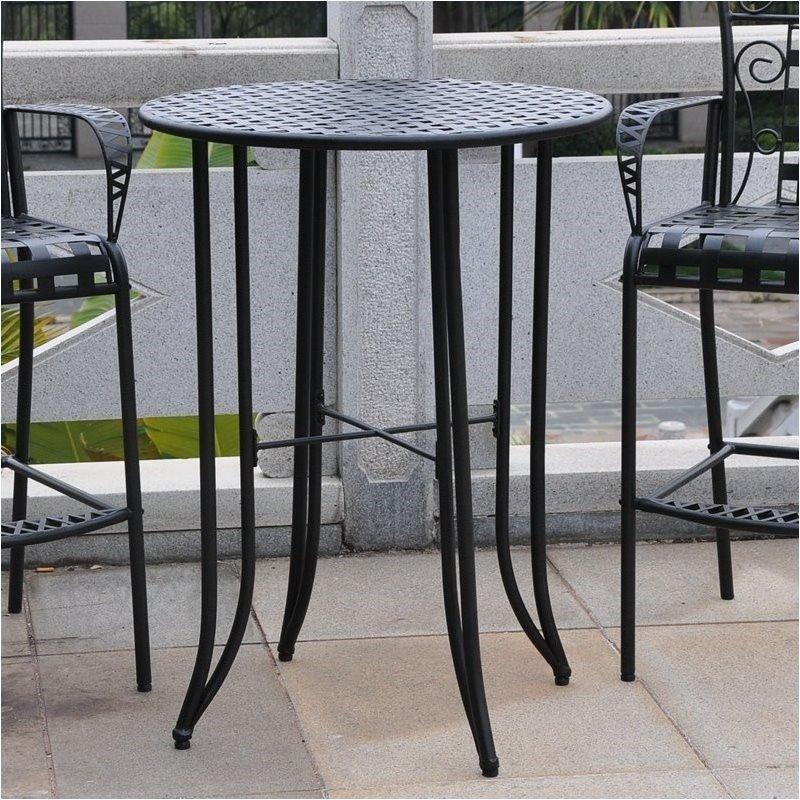 bar height patio set pemberly row iron antique black bar-height patio bar table RMDEYNL