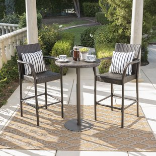 bar height patio set waldhaus 3 piece bar height dining set SVOZIXP