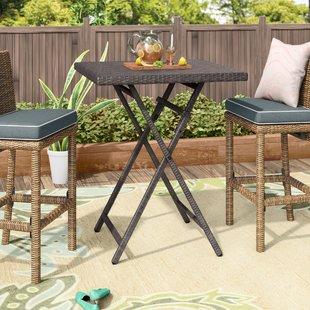 bar height patio set will outdoor wicker bistro