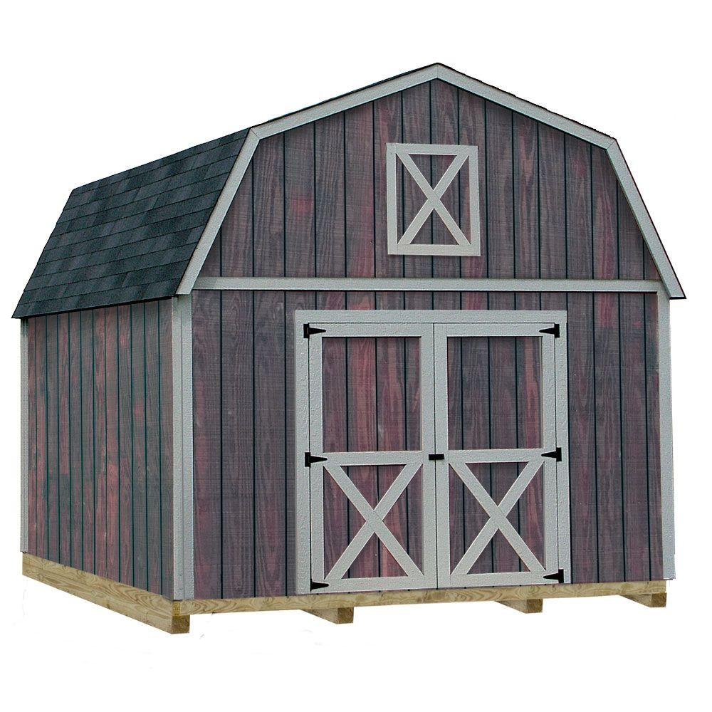 barn sheds best barns denver 12 ft. x 16 ft. wood storage shed kit ZXXGGOZ