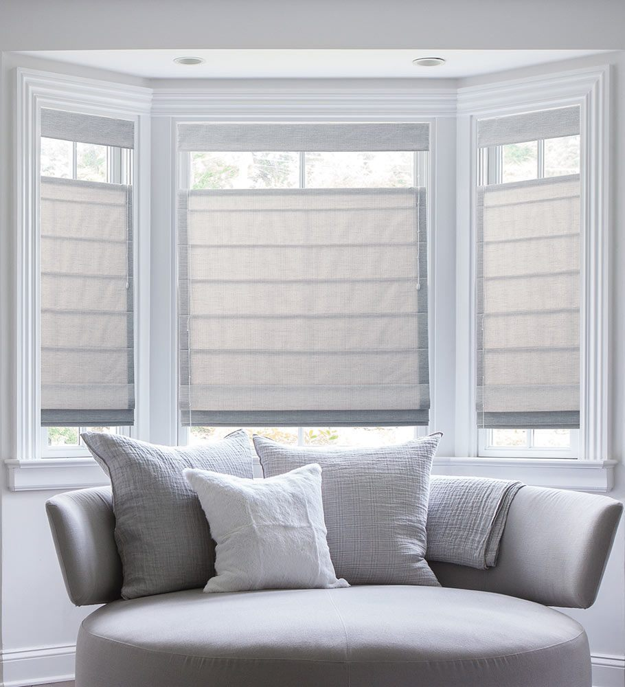 bay window blinds blinds.com classic roman shades NEYATJZ