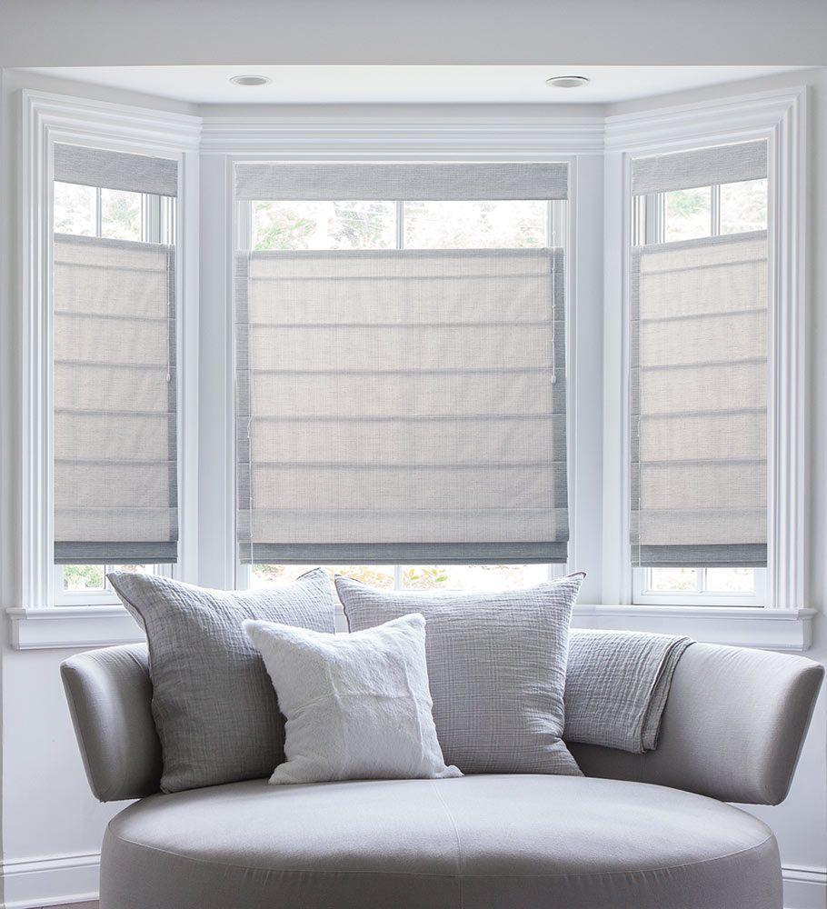 bay window blinds blinds.com classic roman shades NEYATJZ