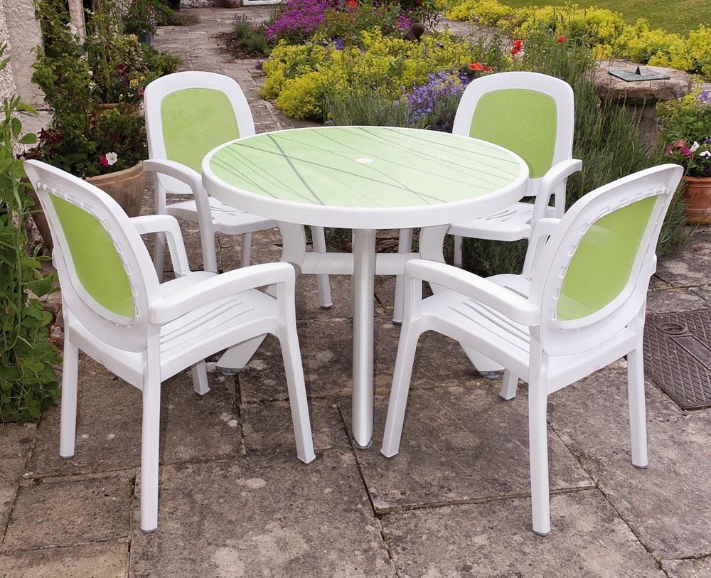 beautiful green plastic patio furniture sets NTUYBSD