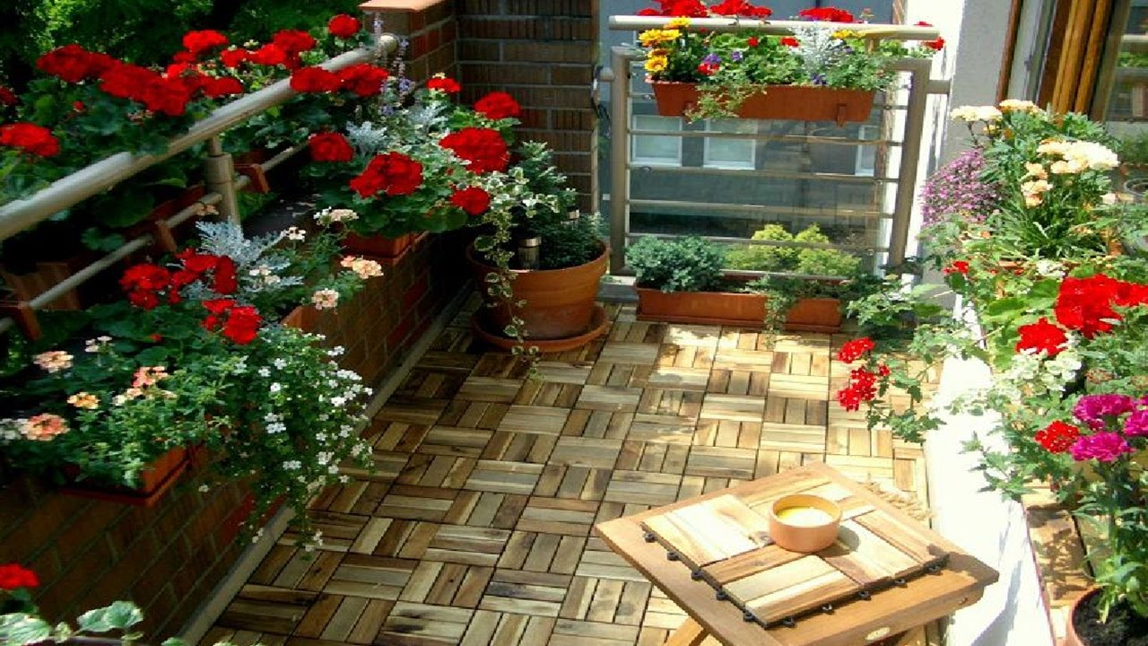 best small balcony garden ideas - youtube IKVIENO
