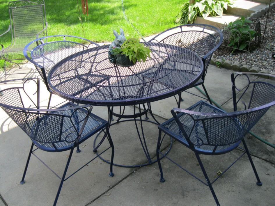 best wrought iron patio furniture sets CWWDJNA