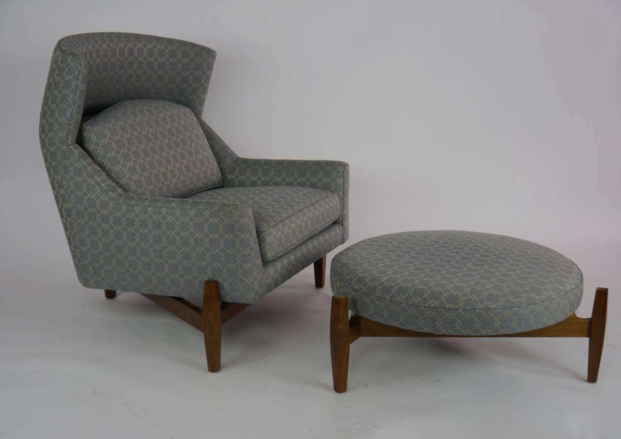 big chair with ottoman rare jens risom ATRGMQA