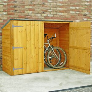 bike storage shed 6u0027 x 2u00276 shire wooden