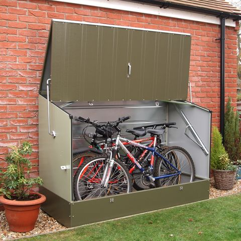 bike storage shed 6u0027 x 3u0027 (1.96x0.89m) trimetals metal bicycle store CHQDWNZ