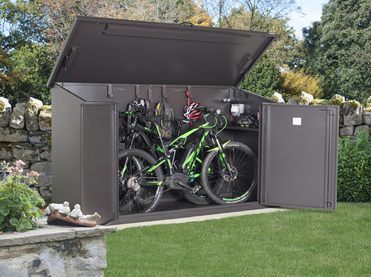 bike storage shed access e plus metal bike storage ITKKTAA