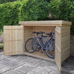bike storage shed forest large double door pent