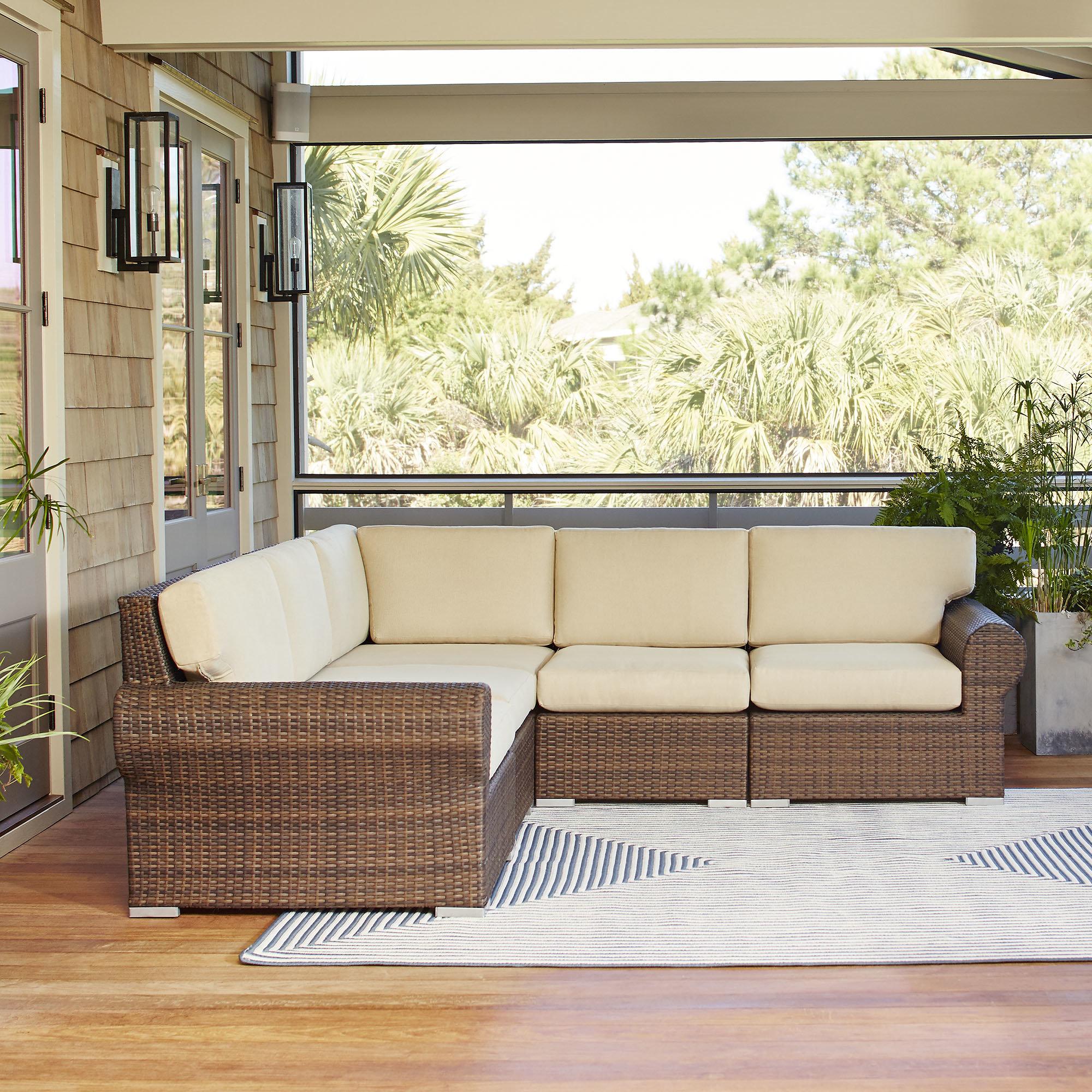birch lane™ brookhaven patio sectional with cushions u0026 reviews | birch lane RZOUEKW