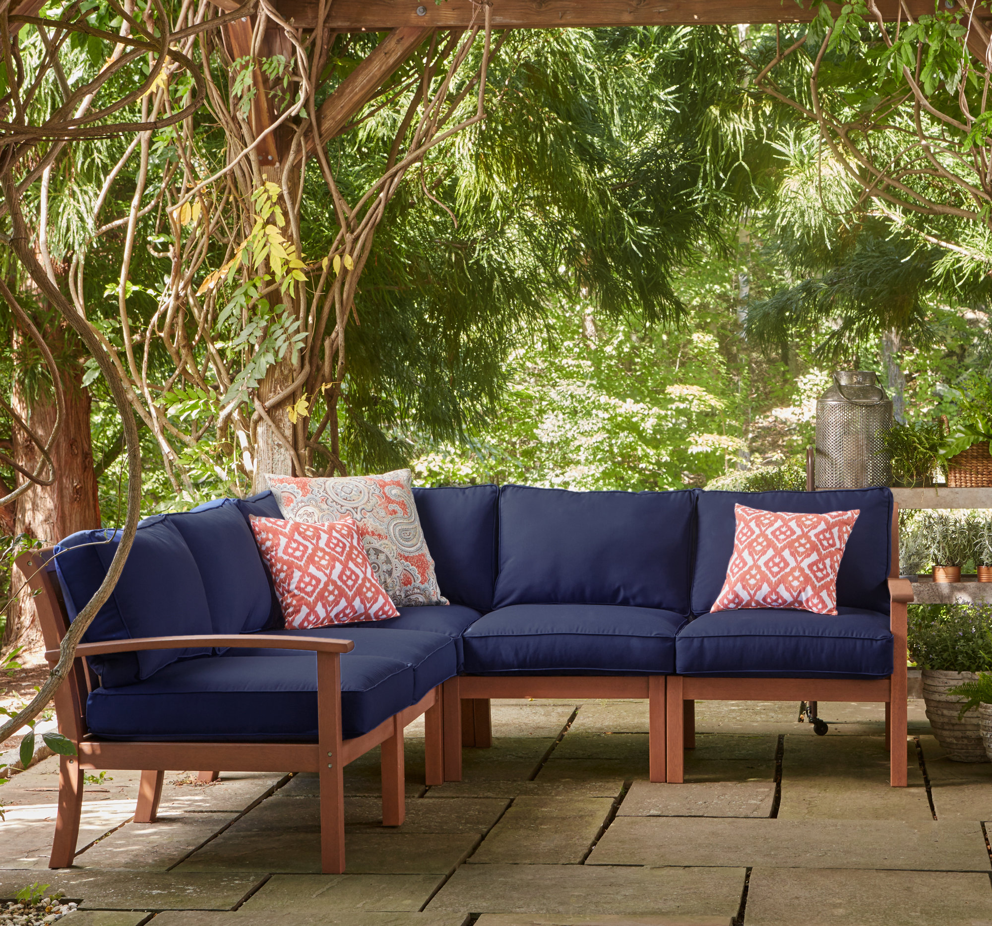 birch lane™ rossi patio sectional with cushions | birch lane PTSPTGH