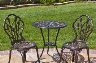 bistro patio set best choice products cast aluminum patio bistro furniture set in antique AZPBHRP