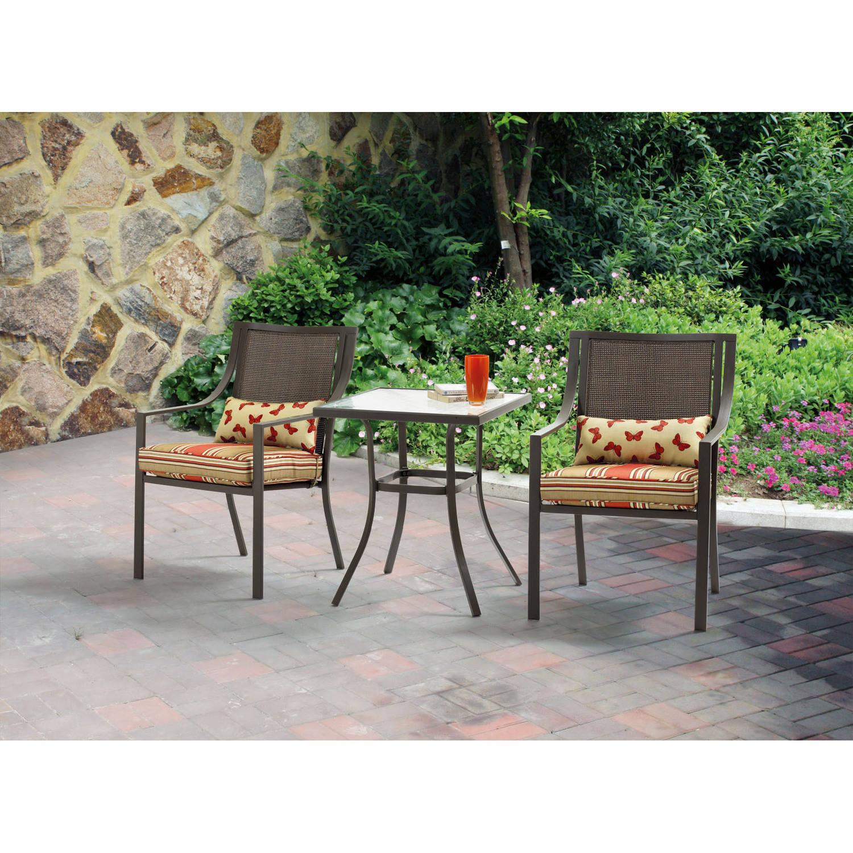 bistro patio set mainstays alexandra square 3-piece outdoor