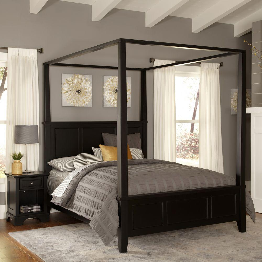 black canopy bed home styles bedford black king
