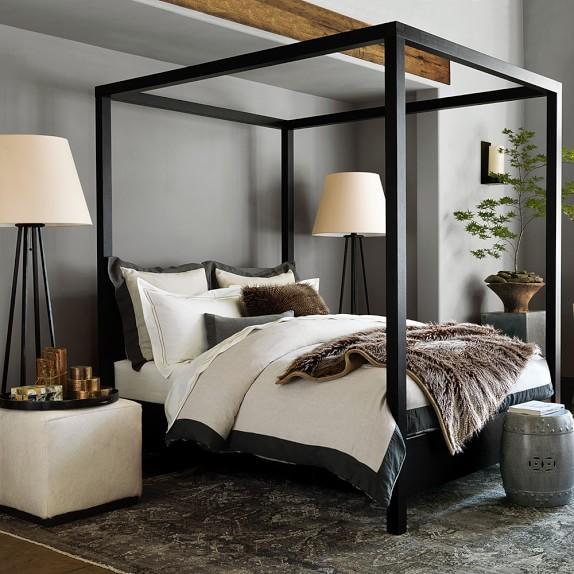 black canopy bed keating canopy bed in black TZAGMQA