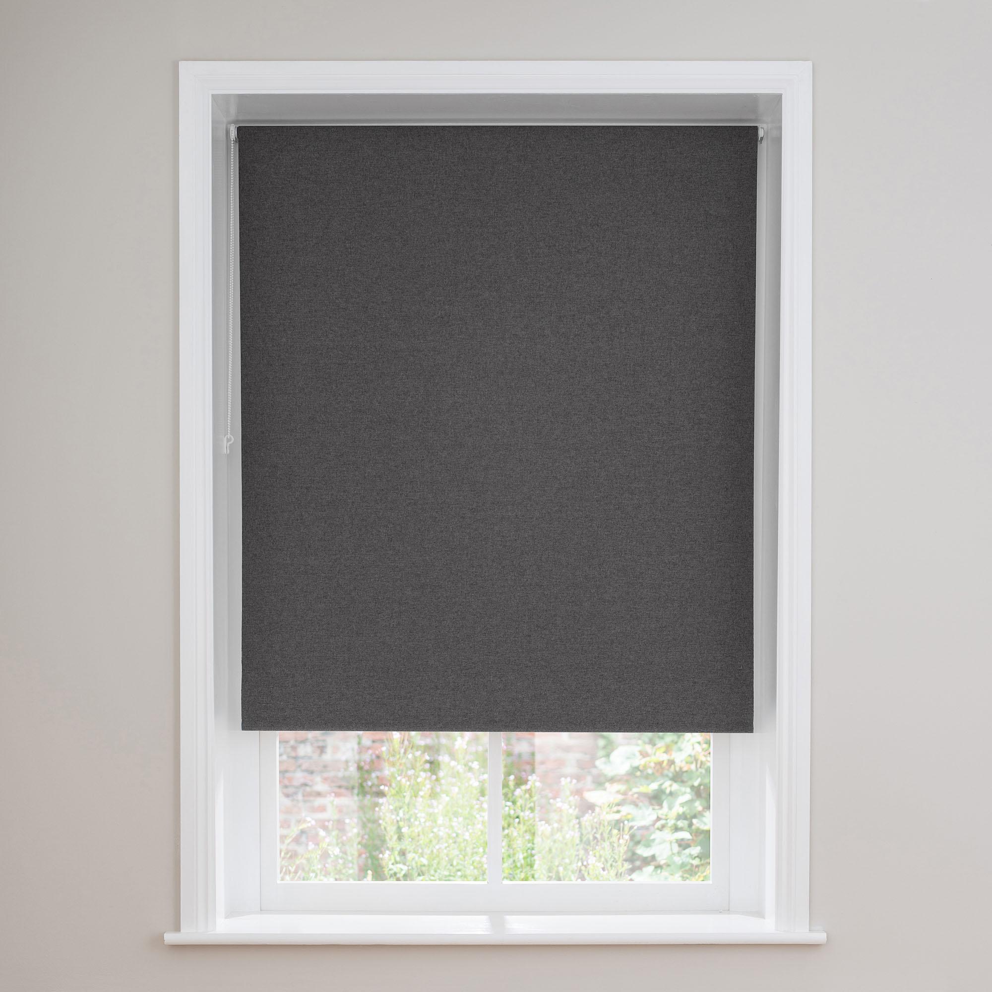 black out blind luna charcoal thermal blackout roller blind XHSGRCI