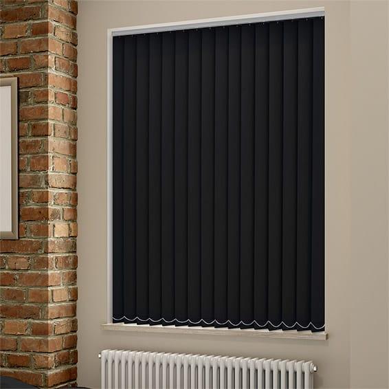 black out blind sevilla tranquility black vertical blind RBXQRMZ