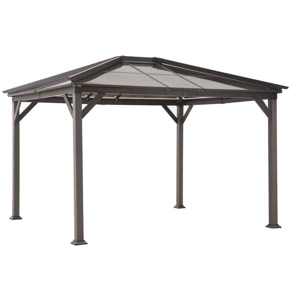 black steel gazebo EDFREVQ