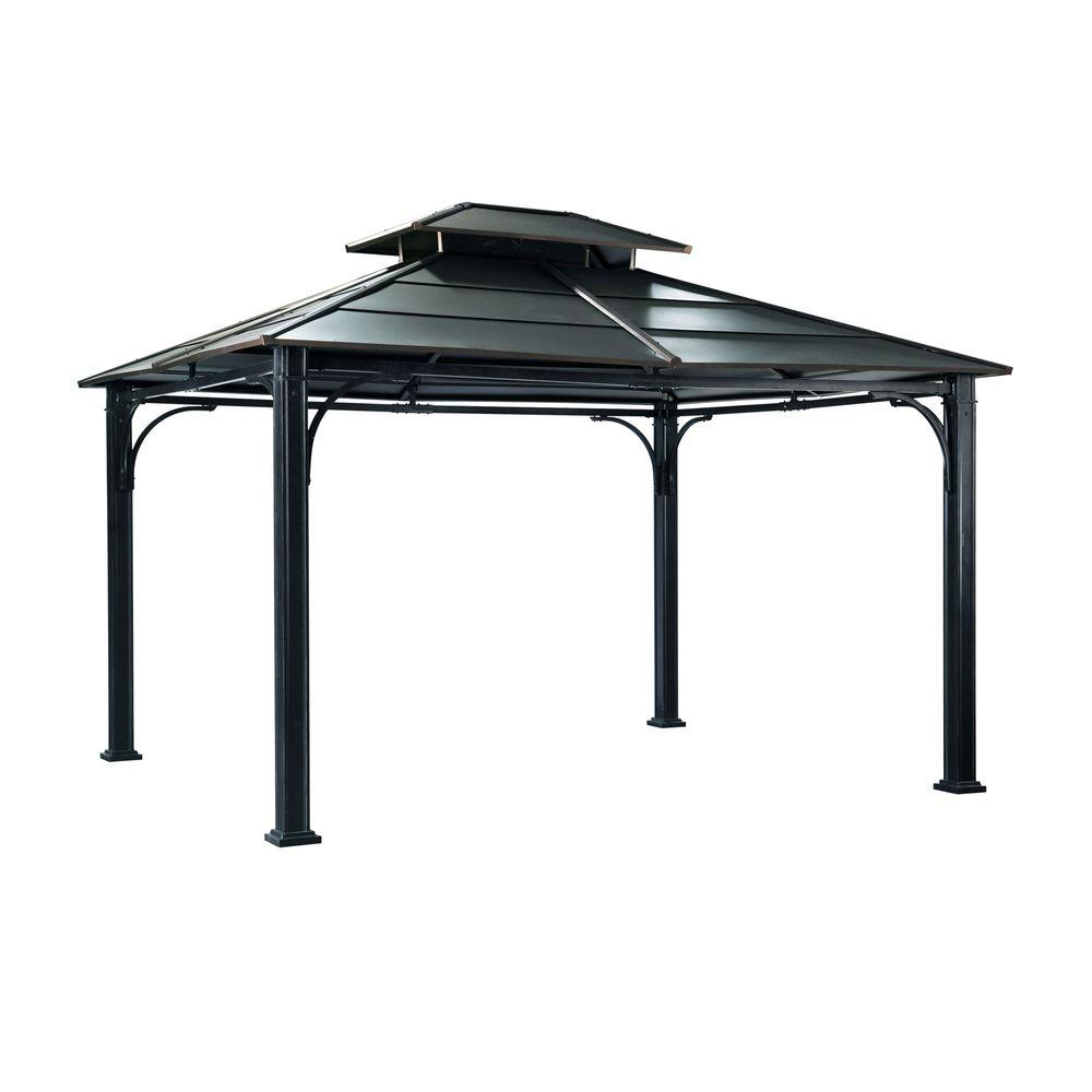 black steel gazebo PNQXGCA