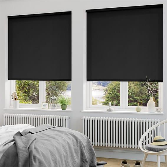 blackout blinds sevilla tranquility black blackout roller blind SKHDMCJ