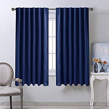 blackout draperies curtains window drapes - (navy blue color) 52 OGCRZHI
