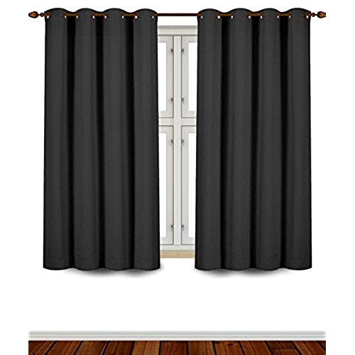 blind curtain utopia bedding grommet top thermal insulated blackout curtains, 2 panels,  52 CDZQFKT