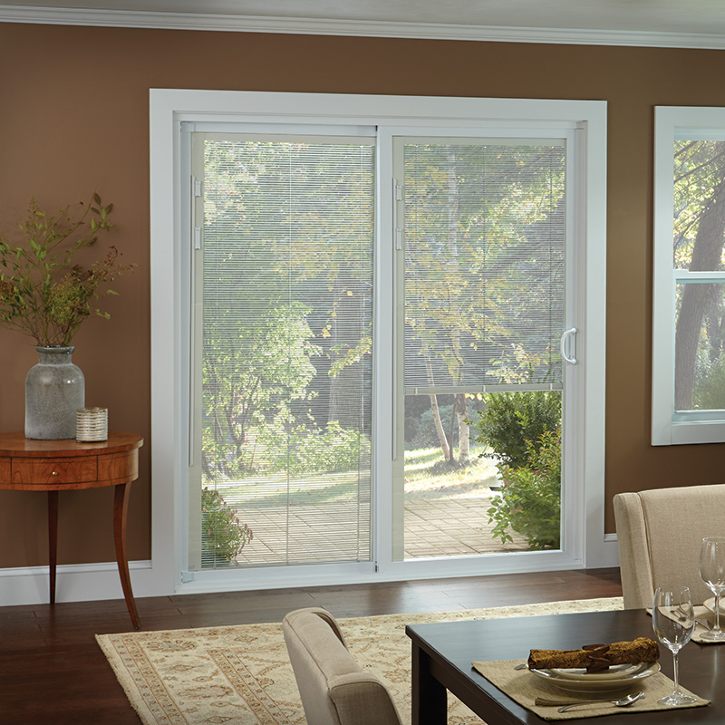 blinds for sliding doors 50 series gliding patio door with built-in-blinds DTGGFKM