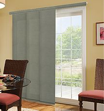 blinds for sliding doors comfortex® panel tracks: classic shown in color moss EQWFBGB