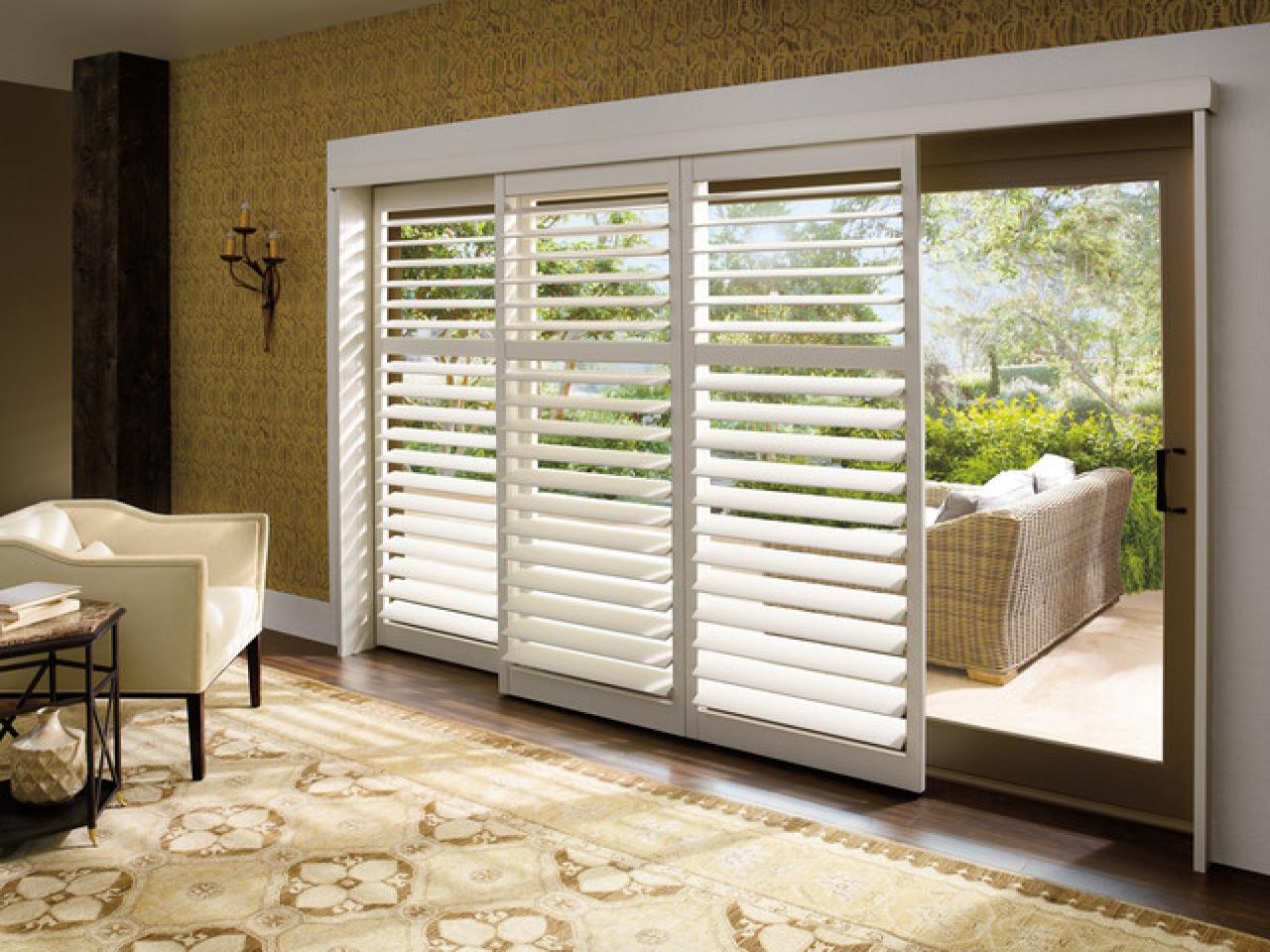 blinds for sliding doors plantation shutters for sliding glass patio doors MEBXIFC