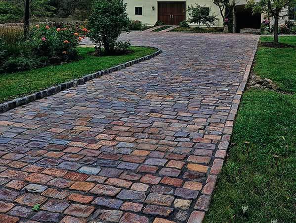 brick driveway granite driveway diy brick pavers drive borders installations MQMEVPZ