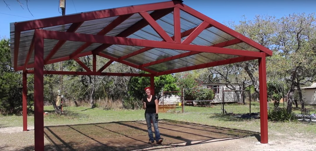 building a metal carport - part 2 JCZOUTZ