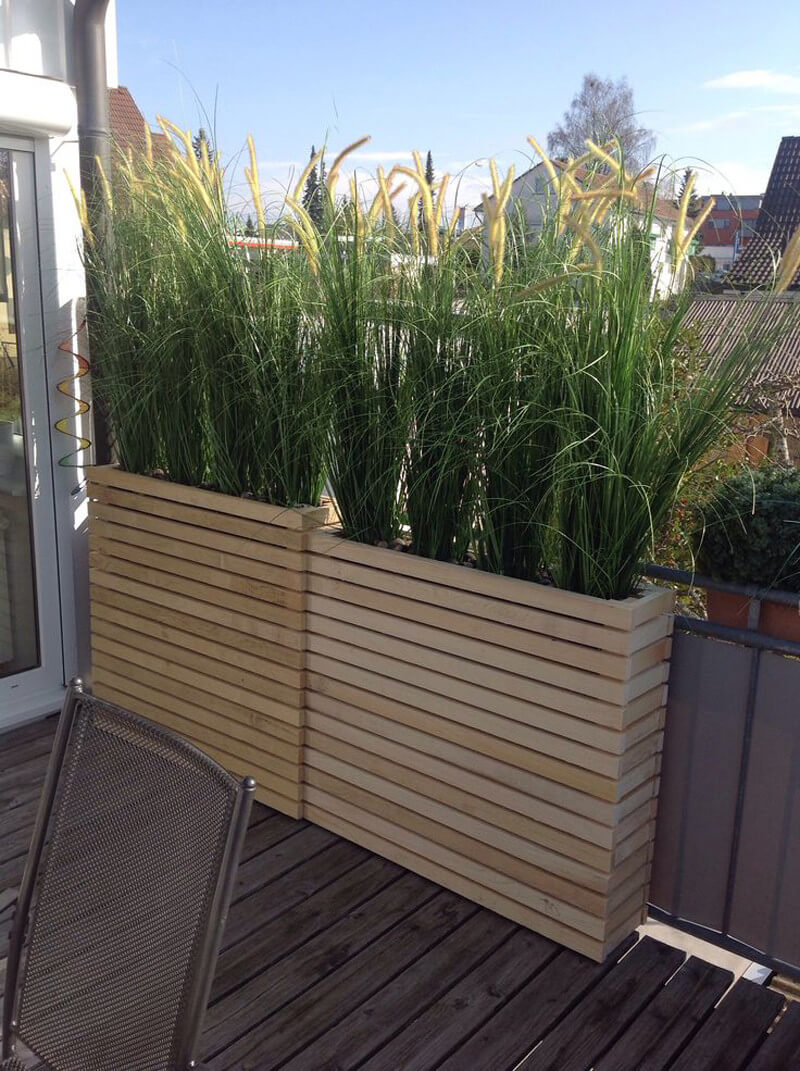 built-in wooden box deck planters UEVZPPE