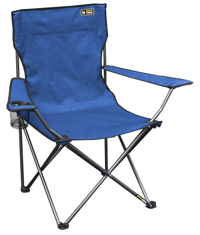 camp chairs amazon.com : quik chair folding quad mesh camp chair - blue : SGRJFKI
