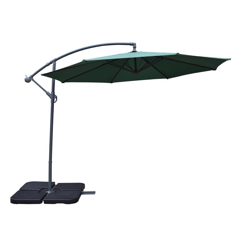 cantilever umbrella cantilever patio umbrella in green UDPWIME