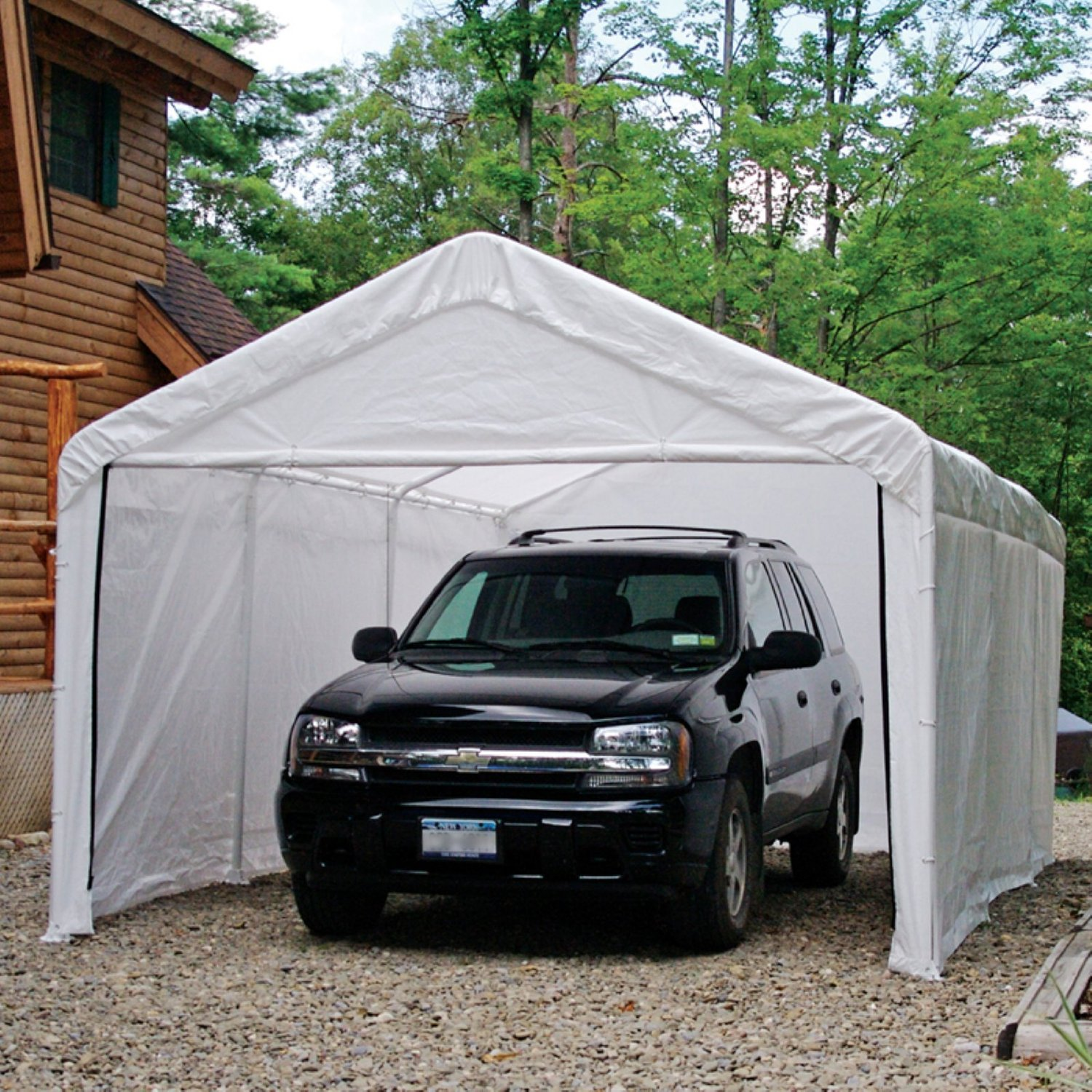 car canopy enclosure kit - white, canopy not included UCQVXVP